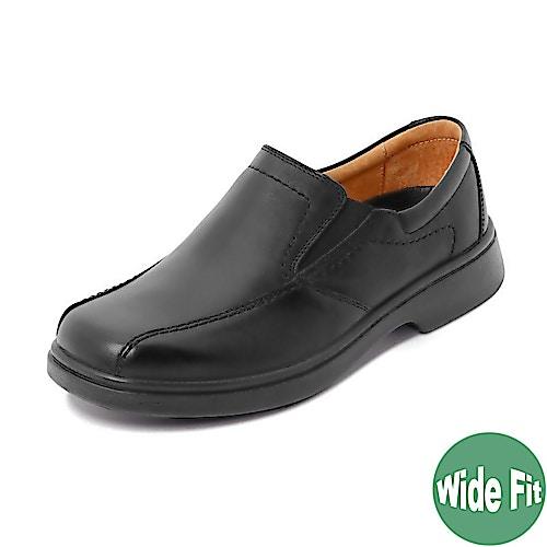 DB Shoes schwarzer Lederschuh Chris