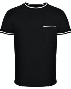Bigdude Contrast Edge T-Shirt Black Tall