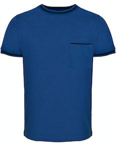 Bigdude Contrast Edge T-Shirt Royal Blue Tall