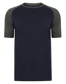 Bigdude Raglan T-Shirt Dunkelblau/Grau