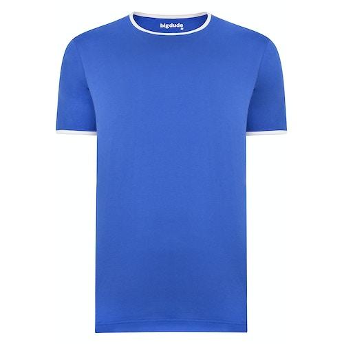Bigdude Contrast Ringer T-Shirt Royal Blue Tall