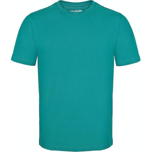 Bigdude T-Shirt mit Rundhalsausschnitt Türkis Tall Fit