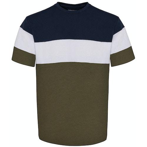 Bigdude Cut & Sew T-Shirt Navy/Olive Tall