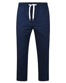 Bigdude Woven Pyjama Bottoms Navy