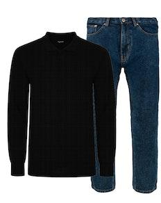 Bigdude Polo Shirt & Jeans Bundle 10
