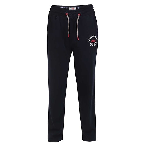 D555 Embroidery and Print Joggers Navy