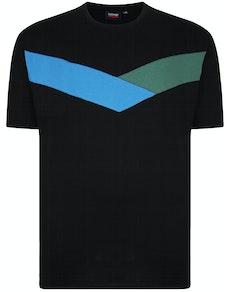 Espionage Cut & Sew T-Shirt Schwarz