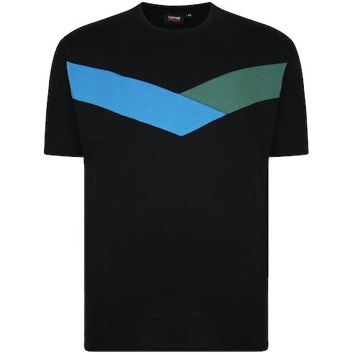 Espionage Cut & Sew Crew Neck T-Shirt Black