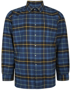 Espionage Long Sleeve Window Payne Check Shirt Navy/Gold