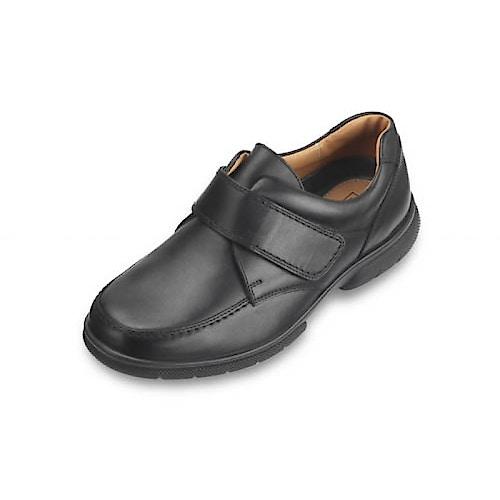 DB Shoes Havant Lederschuh Extra Breit Schwarz