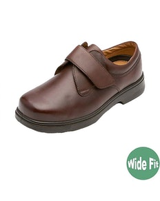 DB Shoes Reece Wide Fit Brown Leather Shoe