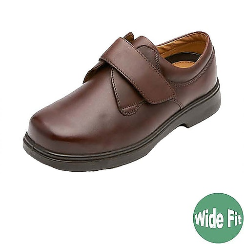 DB Shoes Lederschuh Reece Extra Breit Braun