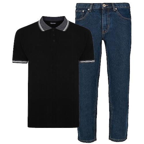 Bigdude Polo Shirt & Jeans Bundle 13