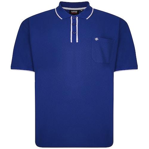 Espionage Tipped Polo Shirt Royal Blue