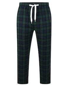 Bigdude Woven Karo-Pyjamahose Grün