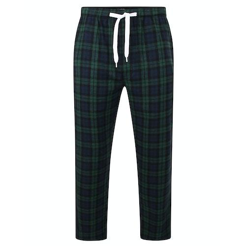 Bigdude Woven Checked Pyjama Pants Green