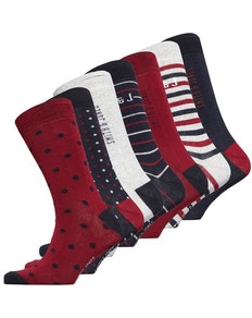Smith And Jones Coshill Seven Pack Socks Assorted