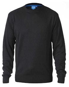 D555 Schlichter Pullover mit Rundhalsausschnitt Schwarz
