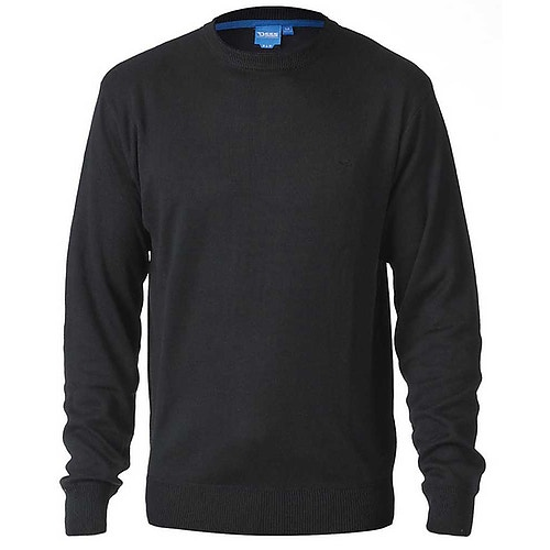 D555 Plain Crew Neck Sweater Black