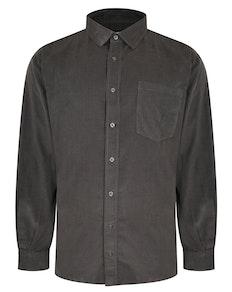 Bigdude Corduroy Shirt Charcoal Tall