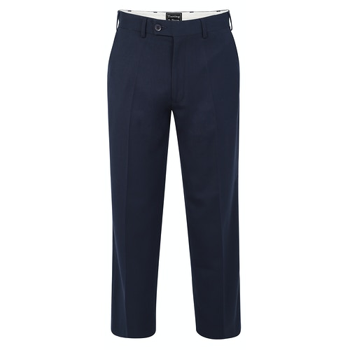 Tooting & Brow Essential Formal Trousers Navy