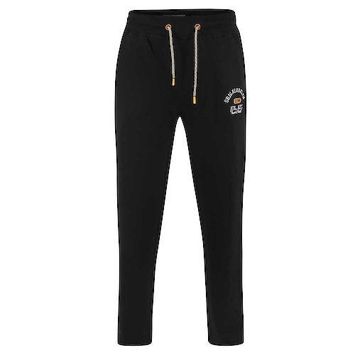 D555 Embroidery and Print Joggers Black
