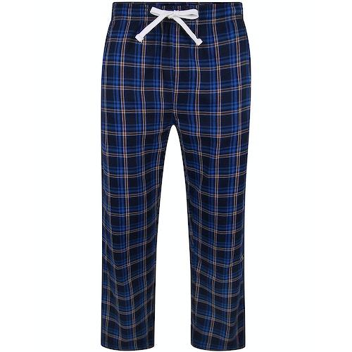 Bigdude Check Lounge Pants New Royal
