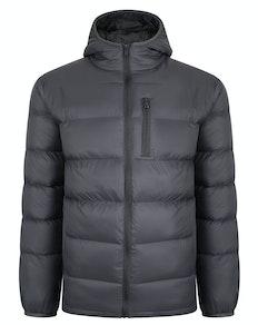 Bigdude Hooded Light Puffer Jacket Charcoal