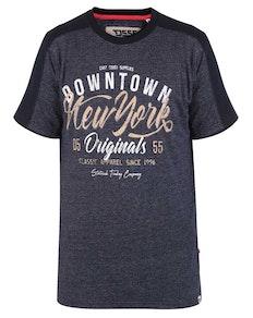 D555 New York Print T-Shirt Blau