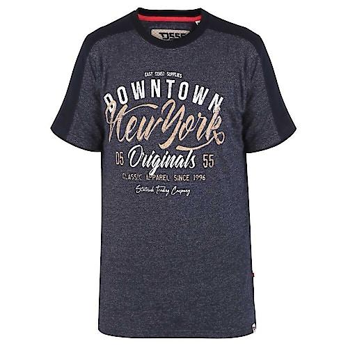 D555 New York Printed T-Shirt Navy