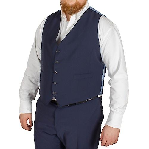 Hugo James Hazan Waistcoat Midnight Blue