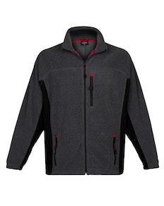 Espionage Bonded Rib Fleece Jacket Charcoal