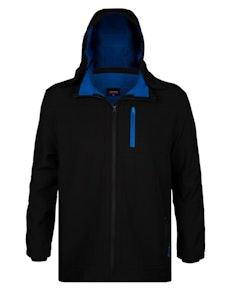 Espionage Hooded Soft Shell Jacket Black/Blue