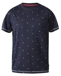 D555 Forbes Umbrella Printed T-Shirt Navy
