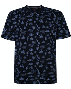 Espionage Under The Sea Print T-Shirt Blau