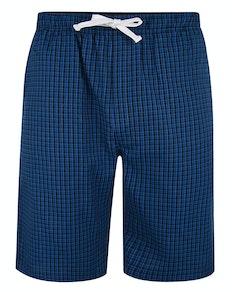 Bigdude karierte Pyjama Shorts Blau/Marineblau