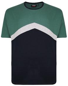 Spionage Cut & Sew Rundhalsausschnitt T-Shirt Navy / Grün