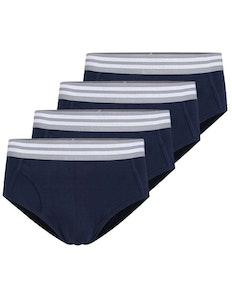Bigdude 4 Pack Stretch Brief Navy