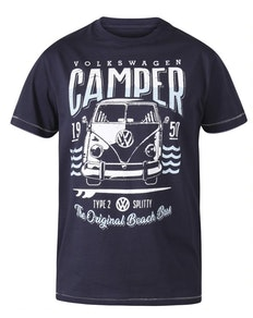 D555 Gorton Volkswagen Print T-Shirt Marineblau