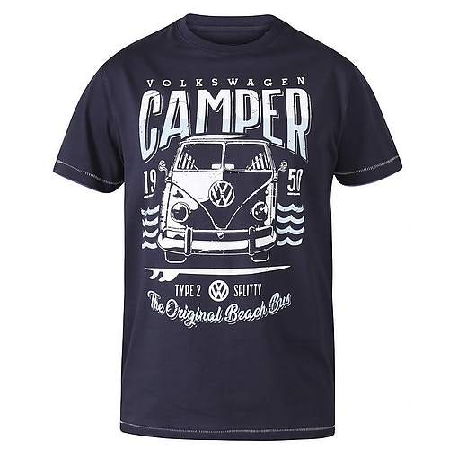 D555 Gorton Official Licensed VW Product Print T-Shirt Navy