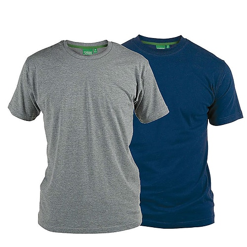 D555 Fenton Grey and Navy Multipack T-Shirts