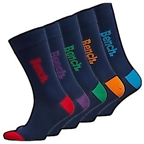 Bench Hewett 5 Pack Socks Navy