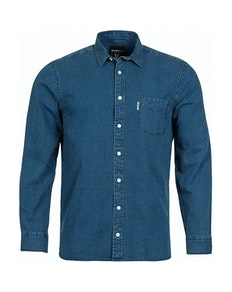 Replika Jeans Hemd Blau