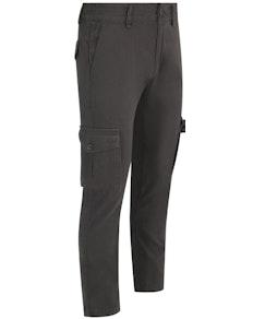 Bigdude Elasticated Waist Cargo Trousers Charcoal Tall