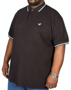 Bigdude Tipped Polo Shirt Black/Blue