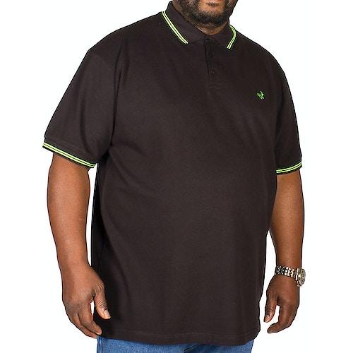 Bigdude Poloshirt Schwarz / Grün Tall Fit