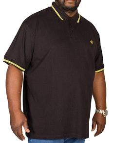 Bigdude Tipped Polo Shirt Black/Yellow