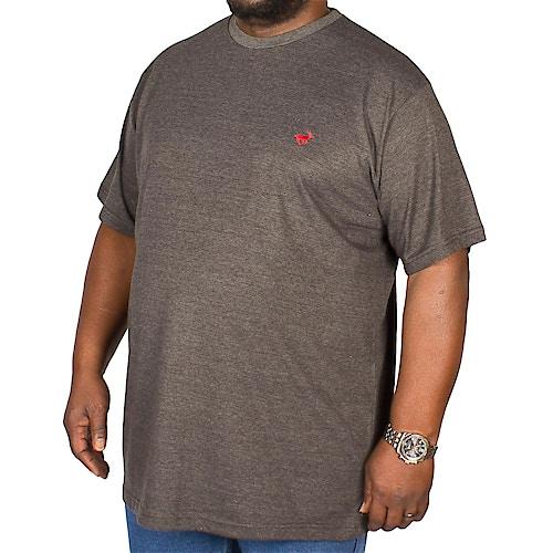 Bigdude Marl Effect T-Shirt Charcoal