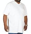 Bigdudde Signature TShirt mit VAusschnitt Weiß Tall Fit