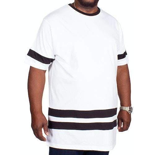 Bigdude Contrast Stripe T-Shirt White